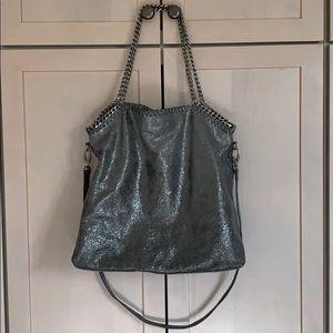 Trouvé crackled leather messenger bag